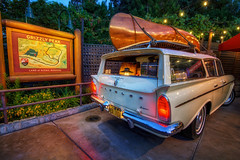 Family Trip (Matt Valeriote) Tags: hdr disneyland disney californiaadventure grizzlypeak grizzlypeakairfield rambler car retro nostalgia vacation
