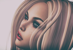 Only Me (Trixie Pinelli) Tags: lelutka entwined blonde closeup sl secondlife portrait buzz photography dreaming freckles