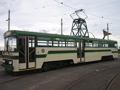 Blackpool Tramway: Centenary 648 at Pleasure Beach (24/09/2016) (David Hennessey) Tags: blackpool tramway centenary 648 pleasure beach
