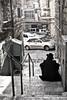 Alley Meditation (tatzlum.photo) Tags: stairs alley jew black white monochrome eretz yisroel israel jerusalem steps chassid machane yehuda contemplation jewish passage meditation blackandwhite eretzyisroel machaneyehuda