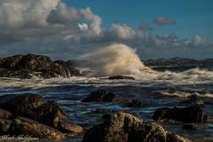 Gischt (mark.helfthewes) Tags: nordsee meer ozean welle norwegen d800 nikon 85mm steine