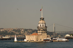 Maiden tower in Istanbul (chrisdingsdale) Tags: bosphorus istanbul sea turkey uskudar turkish city landmark architecture famous historic tourism view travel cityscape building tower bridge asia architectural monument historical blue water boat islamic bosporus tourist byzantine lighthouse maidenstower old eastern scene exterior touristic construction continent europe culture maiden ancient history