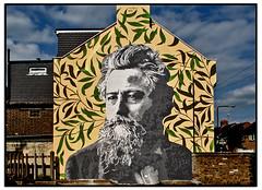 WILLIAM MORRIS by ATMA (StockCarPete) Tags: streetart londonstreetart wallart williammorris atma walthamstow