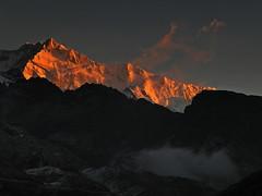 The mountains beckon.... (Lopamudra !) Tags: lopamudra lopamudrabarman lopa kangchenjunga kanchendzongha kanchenzonga kanchanjonga kanchendzonga kanchanjangha kanchanjongha kanchenzongha kangchendznga khangchendzonga kanchenjunga dzongri zongri sikkim northsikkim sunrise sunshine sun mountain morning morn dawn india himalaya himalayas clouds ray rays hmi basecamp twilight landscape highaltitude snow snowscape trek nature greeting greetings