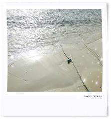 beach stars (Carolyn Saxby) Tags: poloroid beach streams light stars