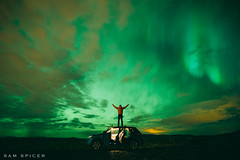 Northern Lights Magic, Reykjavik (SamKent22) Tags: northernlights iceland reykjavik man car road trip magic night landscape icelandic sky northern lights aurora borealis
