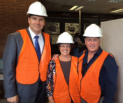 Deans on Tour (IPFW) Tags: link truesdell oconnell helmke renovation ipfw hardhat library