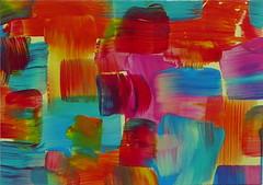 Tumbling Blocks #1 (GlowinGlass) Tags: glowinglass painting acrylic abstract aceo