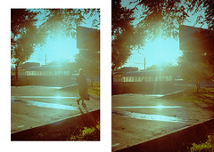 (VeronikaMagic) Tags: lomo film lomography life view september autumn russia fed walk everyday town city streets street sky people light abstract geometry moments nature