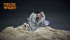 Tech west speeder - Rattlesnake ridge gang (adde51) Tags: adde51 lego moc tech west speeder scifi desert cowboy