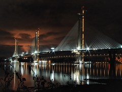 The New Forth Crossing (Barrie Caveman) Tags: bridge firthofforth new thequeensferrycrossing night longexposure