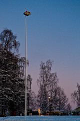 A gift in the flag pole (Lars Dahlin) Tags: christmas december sweden christmasfair jamtli stersund julmarknad