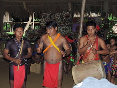 DSCN0934 (KaDresel) Tags: music musicians drums rainforest chief panama embera villiage chieftan nativeboy nativechief villiagelife nativemen emberaboy emberavilliage nativevilliage