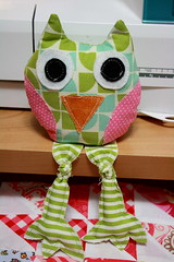 owl08 (sewinluv) Tags: sewing fabric owl quilting pincushion applique