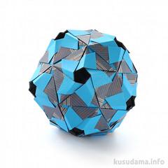 Quasar (ronatka) Tags: nataliaromanenko kusudama modularorigami 60degreeunit dodecahedron quasar blue inexplore rectangle rectangle23 dropped