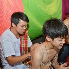 (.) (krashkraft) Tags: tattoo thailand bangkok buddhist magic thai sacred mystic teachersday 2012 waikhru mastersday  krashkraft