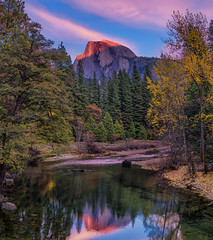 Last Light on Half Dome (mojo2u) Tags: california sunset yosemite halfdome yosemitenationalpark yosemitevalley mercedriver nikon2470mm nikond800