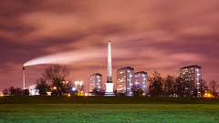 monumental (Spencer Bowman) Tags: green night scotland glasgow gorbals nelsonmonument nex6 1650pz