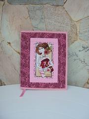 CAPA PARA LIVRO (Atelier Panos e Retalhos) Tags: pink quilt handmade sewing rosa fabric cotton patchwork tecido costura feitoamão artesanatocomretalhos trabalhoempatchwork arteempatchwork
