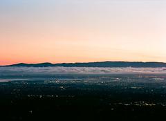 Waking City (bior) Tags: california 120 film sunrise dawn iso100 kodak sanjose siliconvalley losaltos kodakfilm ektar pentax645 150mm pagemill kodakektar 6x45cm ektar100