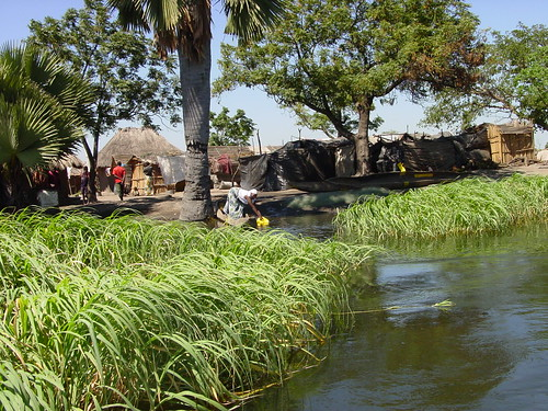 Nyimba fishing camp in Kafue Flats, Zambia. Photo by Alphart Lungu, 2009.