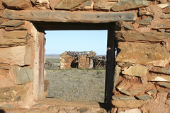 Window to the Past (aussiegypsy_back_catching up) Tags: australia australian aussie sa peterborough southaustralia southaustralian nature outdoors scenery landscape abandoned derelict farm farming bygone era past ruin ruins building stonework house shed window history historic pioneering pioneers earlysettlers brokendown old home outback change stones frame lookingback outbuilding lorraineharris midnorth earlydays homestead
