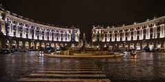 roma by night - piazza esedra (giuseppesavo) Tags: italy rome roma night italia pentax mint linux fontana notturna notte vianazionale piazzadellarepubblica k7 piazzaesedra photivo pentaxsmcda1224f4