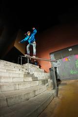 Ana Frank - Y su no tan jerna (EsteveSegura) Tags: azul frank switch ana inn skating rail drop nicolas skate trick sergi segura esteve truco barandilla patinar dropinn