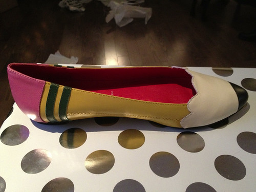 Pencil shoes. To Paula from Meredith.