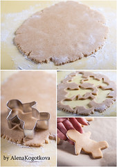 Preparing Gingerbread Men (AlenaKogotkova) Tags: cooking dough gingerbread cutting shape rolling gingerbreadmen