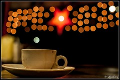 Christmas Tea (ujjal dey) Tags: christmas cup lights cafe tea bokeh dreams ujjal nikon35mm christmastea secundrabad nikond90 ujjaldey ujjaldeyin