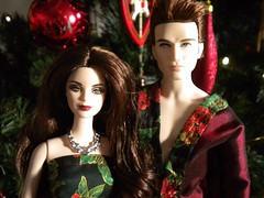 Merry Christmas! (vampirefrannaz) Tags: christmas dawn twilight doll dolls vampire sewing barbie edward bella breaking cullen barbiedoll dolldress dollclothes a dollclothing barbiecollector