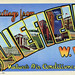 Greetings from Bluefield, West Virginia, Nature's Air Conditioned City - Large Letter Postcard