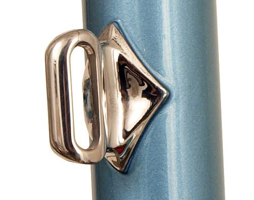 <p>Front derailleur boss in stainless steel.  Drivetrain brand, model and large chainring size is needed to locate the boss.  English Blue.  64237</p>