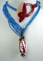 December 2012 Art Bead Scene Challenge (AutEvDesigns) Tags: polymerclay toggleclasp beadednecklace lampworkjewelry decabs