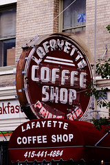 Lafayette Coffee Shop Signage, the Tenderloin in San Francisco (CT Young) Tags: sf sanfrancisco california urban bayarea urbanscene thetenderloin