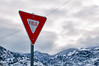 The end... (harpazo_hope) Tags: snow mountains sign clouds utah canyon powerlines 1750 week yield tamron vc 52 d90 522012