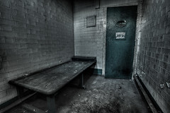A Room for One (sj9966) Tags: old england cold abandoned canon eos decay exploring suicide security cells hdr decayed decaying boarded 1022 imprisoned photomatix 60d sj9966