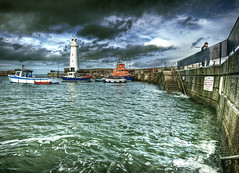 Happy New Year from the 'Dee [Explore] (RonnieLMills) Tags: county ireland lighthouse nikon harbour down explore northern tamron hdr donaghadee 1024 d90