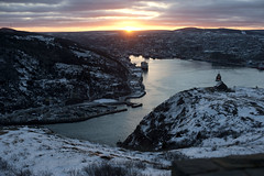 View from Signal Hill, St.John's Newfoundland. (Angela Mary Butler) Tags: ocean sunset home newfoundland 50mm harbour stjohns signalhill pinkskies cabottower totw newfoundlandandlabrador nikond700 angelabutlerphotography