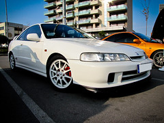 Honda Integra Type R Championship White JDM (Vesar Photography) Tags: red orange white honda greek photography championship milano greece turbo r type thessaloniki civic integra edm jdm nsx typer recaro ellada vtec itr b18c vesar kontres