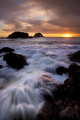 The Last Sunset of 2012 (danielpivnick) Tags: ocean sanfrancisco california sunset water northerncalifornia clouds rocks surf waves heart pacificocean bayarea sutrobaths cliffhouse sealrock nikond800