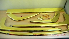 Gold Plated Car Bumpers (PureGoldPlating) Tags: goldplated customcar goldplating customshowcar goldjaguar goldplatedbumpers