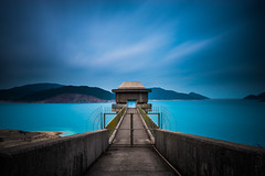 Draw Off Tower X  |  High Island Reservoir (dawvon) Tags: world ocean china longexposure travel sea hk mountain lake nature landscape ed hongkong nikon asia zoom cloudy wideangle nikkor   f4 vr afs newterritories lenses saikung zoomlens  f4g 1635mm   fmount vibrationreduction vr2 vrii highislandreservoir wideanglezoom nanocrystalcoat afsnikkor1635mmf4gedvr 1635mmf4gvr drawofftowerx kwunmunchannel x