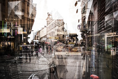 Innocent (petertandlund) Tags: street city people urban color t sweden stockholm sdermalm doubleexposure streetphotography sthlm multiexposure gtgatan hkensgata flickrunitedaward