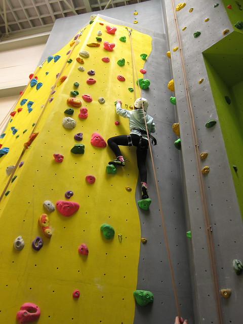 Climbing wall at Harlech