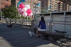 NYC -5082 (Jacobo Zanella) Tags: newyorkcity nyc nuevayork usa septiembre travel stranger local candid city urban ny canon5d 2012 jacobozanella balloons bench sitting jz76