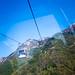 纜車 缆车 cable car / 旅遊人流 旅游人流 Travel Human Logistics / 山東省泰山 山东省泰山 Mount Tai, Shandong Province / 中國旅遊 中国旅游 China Tourism / SML.20121011.G12.00682
