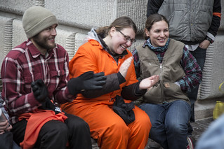 Witness Against Torture: Dan, Jerica, and Chantal Celebrate