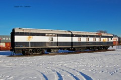 "Chicago, Milwaukee, St. Paul & Pacific Railroad- Milwaukee Road No. 1312; St. Louis Steam Train Association; North Star Rail), Private Car No. 800098, ""Firefly"" Minnesota, Minneapolis (32,759) (EC Leatherberry) Tags: minnesota 1947 baggagecar milwaukeeroad hennepincounty 1522 stlouismuseumoftransportation combinationcar northstarrail chicagomilwaukeestpaulpacificrailroad dormcar stlouissteamtrainassociation privatecar800098"